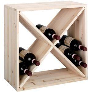 range bouteille en bois achat vente range bouteille en bois pas cher cdiscount. Black Bedroom Furniture Sets. Home Design Ideas