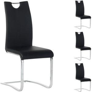 Lot de 4 chaises SABA, noir