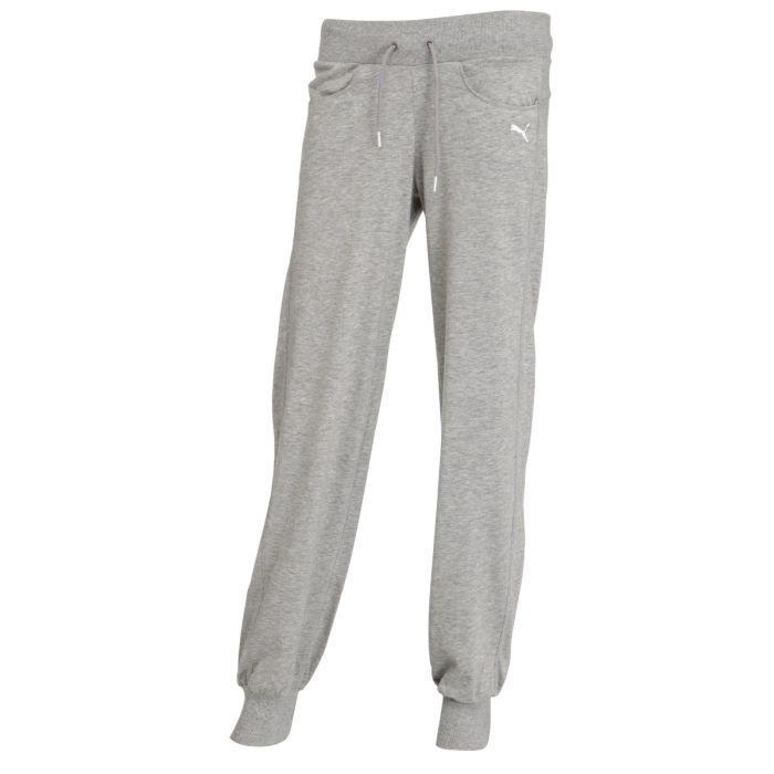 puma pantalon de surv tement femme gris achat vente pantalon puma pantalon de surv tement. Black Bedroom Furniture Sets. Home Design Ideas