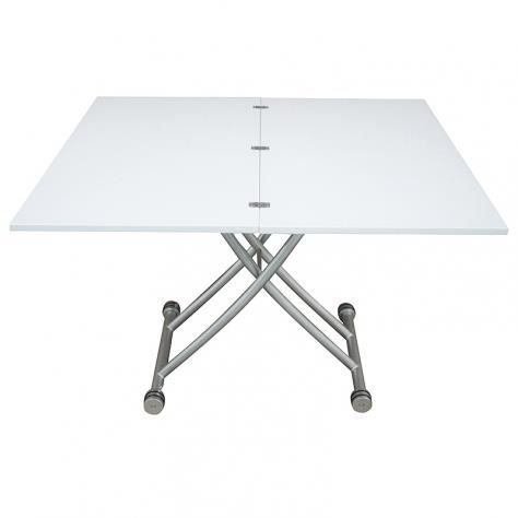 Table basse relevable laqu e blanche corsa xl achat for Table basse blanche laquee