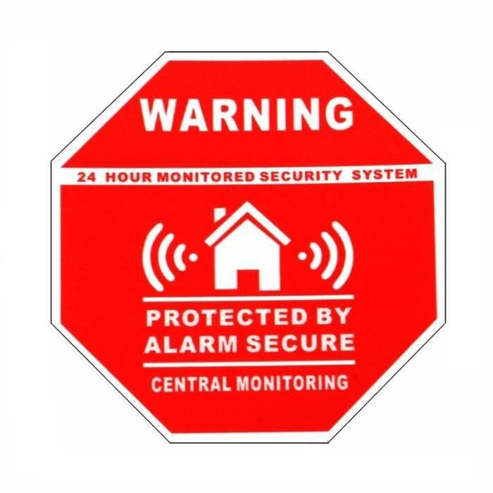 Autocollant adh sif maison sous surveillance vid o achat for Autocollant alarme maison
