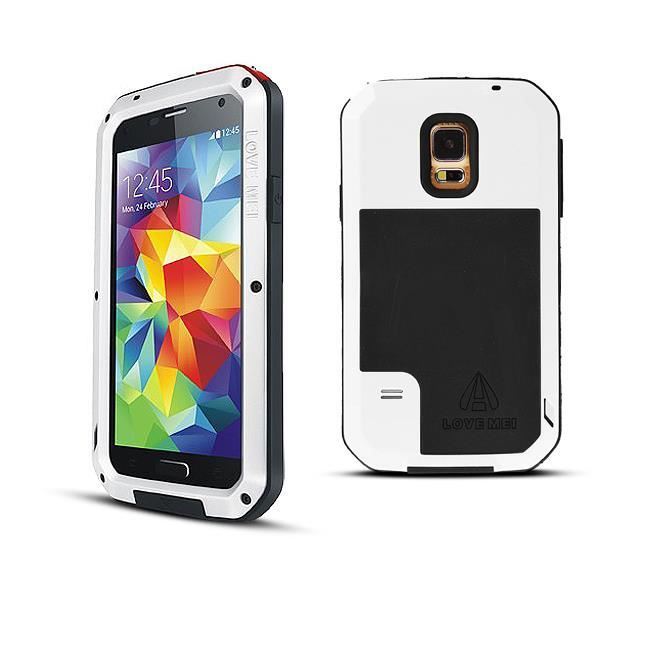 coque anti choc blanche lovemei pour galaxy s5 achat. Black Bedroom Furniture Sets. Home Design Ideas