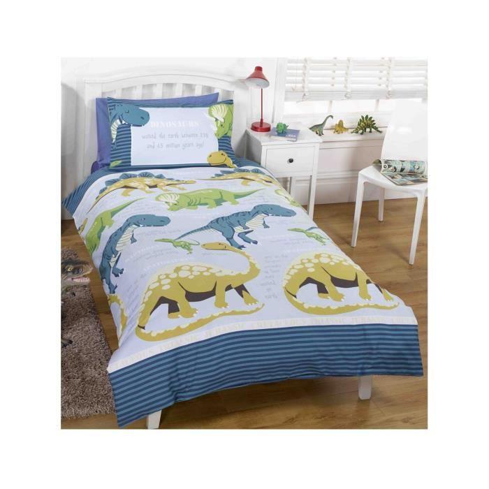 parure housse de couette dinosaure animaux achat vente housse de couette cdiscount. Black Bedroom Furniture Sets. Home Design Ideas