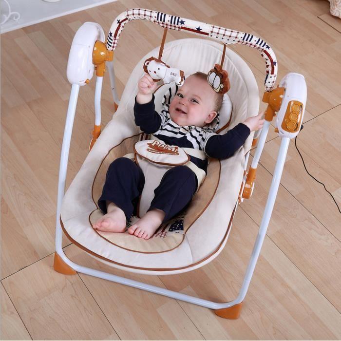 b b lectrique rocking chair berceau de b b lectrique swing de la musique achat vente. Black Bedroom Furniture Sets. Home Design Ideas