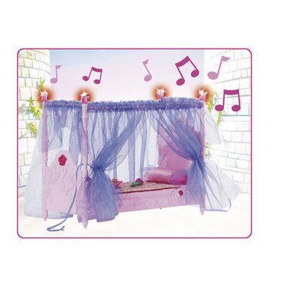 Accessoire maison poupee lit enchant de barbie belle au for Accessoire maison barbie