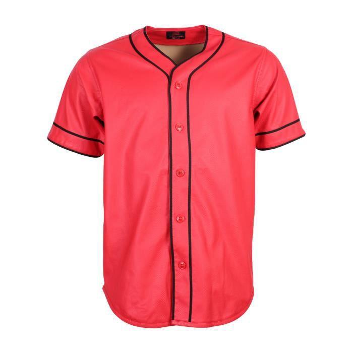 chemise baseball rouge noir en prix pas cher cdiscount. Black Bedroom Furniture Sets. Home Design Ideas