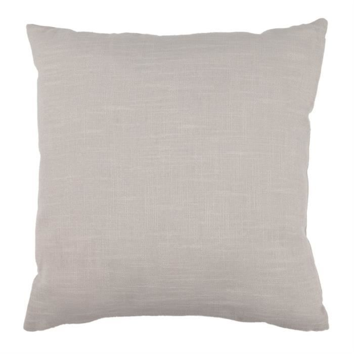 Coussin aspect lin 40x40 cm taupe taupe achat vente coussin cdiscount - Coussin anti transpirant ...