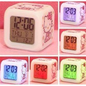 RÉVEIL SANS RADIO Hello Kitty Réveil Apaisant Lueur lumières LED des