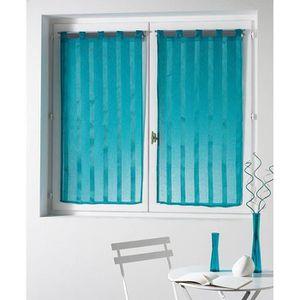 rideau bleu turquoise achat vente rideau bleu turquoise pas cher cdiscount. Black Bedroom Furniture Sets. Home Design Ideas