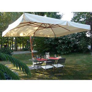 parasol rectangulaire 300x400 achat vente parasol. Black Bedroom Furniture Sets. Home Design Ideas