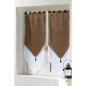 rideaux voilage couleur chocolat achat vente rideaux. Black Bedroom Furniture Sets. Home Design Ideas