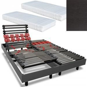 ensemble lectrique 2 x 80 x 200 actif metal matelas latex armorel relax a. Black Bedroom Furniture Sets. Home Design Ideas