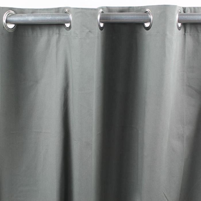 toile de toscane rideau 100 coton 150x250cm gris. Black Bedroom Furniture Sets. Home Design Ideas