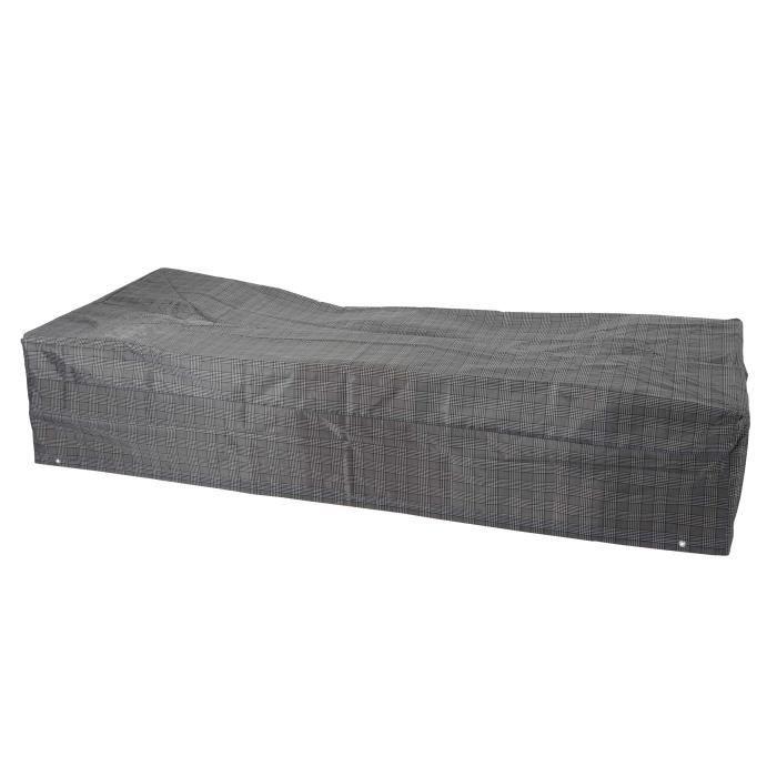 Housse de protection pour transat bain de soleil chaise longue 200x85x40cm nylon achat - Housse de protection chaise ...