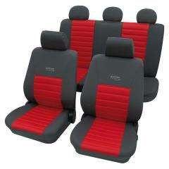 housses active sports gris rouge 207 06 achat vente housse de si ge housses active sports. Black Bedroom Furniture Sets. Home Design Ideas