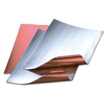 Feuille aluminium découpée, cuivre / argenté, 20 x 30 cm, ép. 0,15 ...