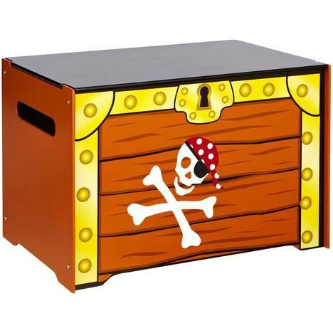 coffre pirate jouets de rangement gar on bois achat vente coffre jouets 2009927694703. Black Bedroom Furniture Sets. Home Design Ideas