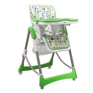 CHAISE HAUTE  Chaise haute enfant pliable, réglable hauteur, dos