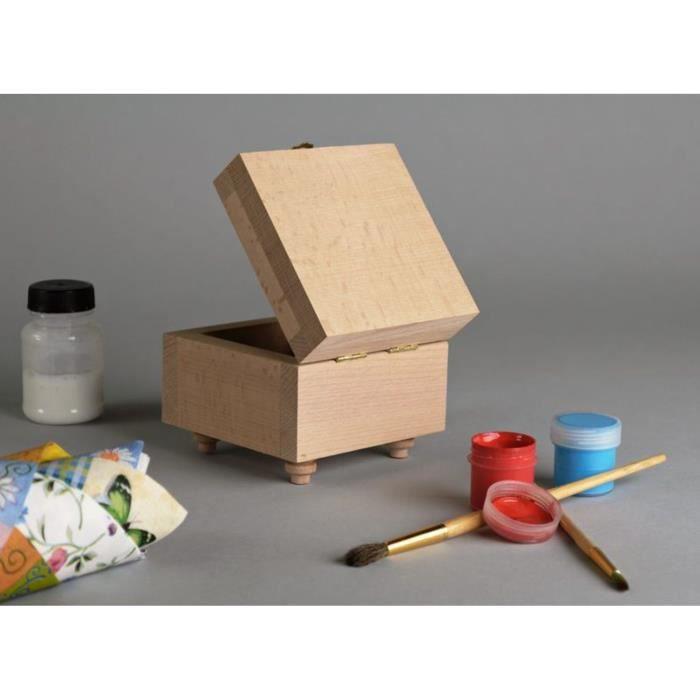 Bo te en bois d corer d coration de maison achat vente bac de rangement - Decoration boite en bois ...