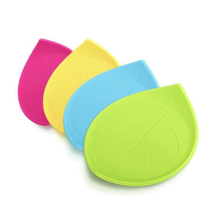 4pcs silicone coupe mat feuille en forme achat vente dessous de plat cdiscount. Black Bedroom Furniture Sets. Home Design Ideas