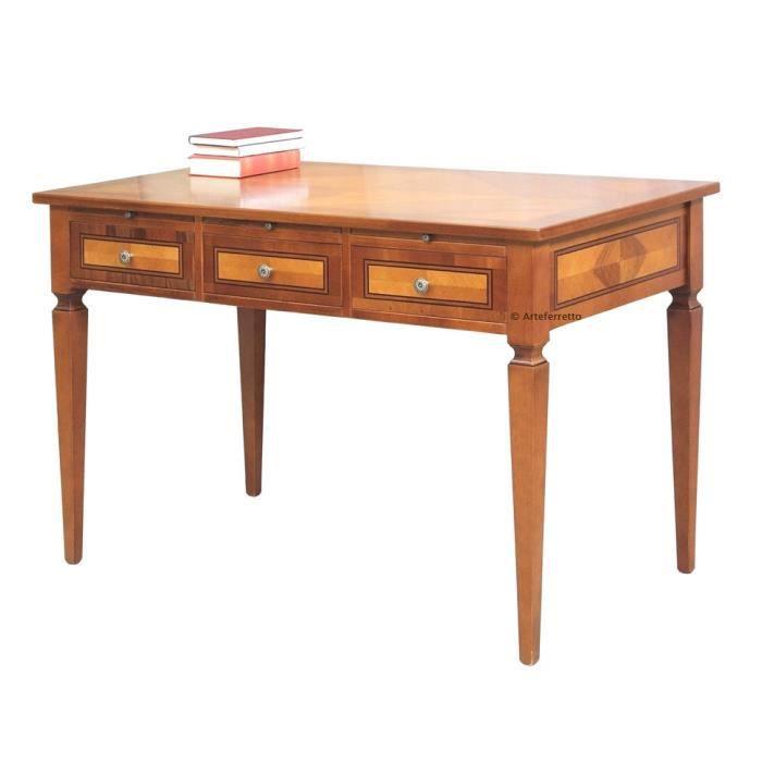 Bureau classique avec tirettes achat vente bureau bureau classique avec tirettes cdiscount - Bureau classique ...