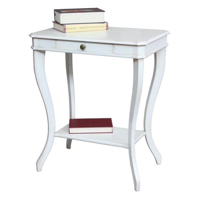 Table d 39 appoint gu ridon avec tiroir achat vente table for Table d appoint ordinateur