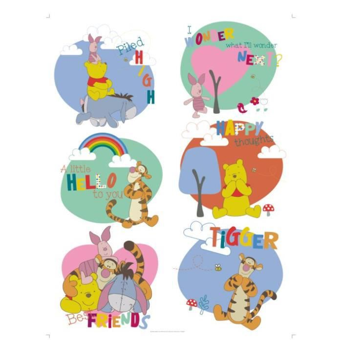 stickers g ant b b winnie l 39 ourson disney achat vente stickers soldes d t cdiscount. Black Bedroom Furniture Sets. Home Design Ideas