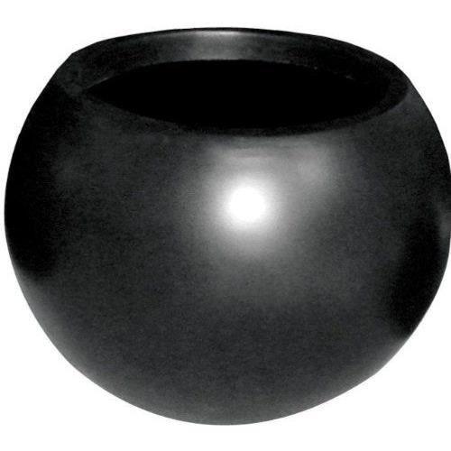 Cadix pot de fleurs rond noir 40 cm achat vente jardini re pot fleur cadix pot de fleurs - Pot de fleur noir ...