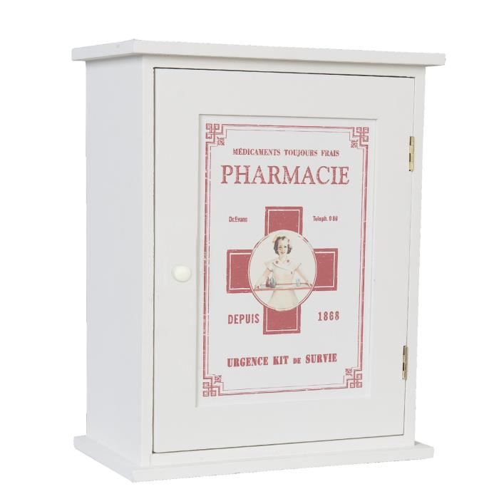 armoire pharmacie neuve blanche suspendre deco bois. Black Bedroom Furniture Sets. Home Design Ideas