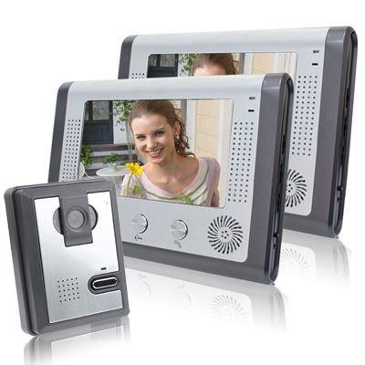 intercom sonnette 2 cran de 7 pouces couleur achat vente interphone visiophone. Black Bedroom Furniture Sets. Home Design Ideas