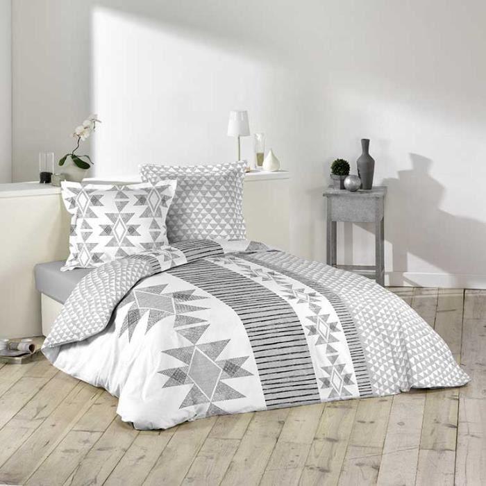 parure de couette 100 coton 260x240 santero achat. Black Bedroom Furniture Sets. Home Design Ideas