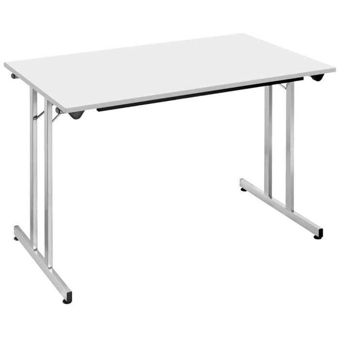table pliante tpmu127ga x 700 mm gris alu achat vente bureau table pliante tpmu127ga. Black Bedroom Furniture Sets. Home Design Ideas