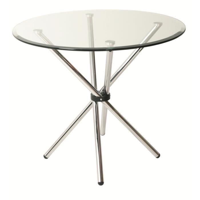 Table de cuisine swithome aurelia en m tal et v achat for Achat table cuisine
