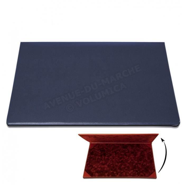 sous main rabat cuir bleu achat vente sous main rabat cuir bleu cadeaux de no l cdiscount. Black Bedroom Furniture Sets. Home Design Ideas