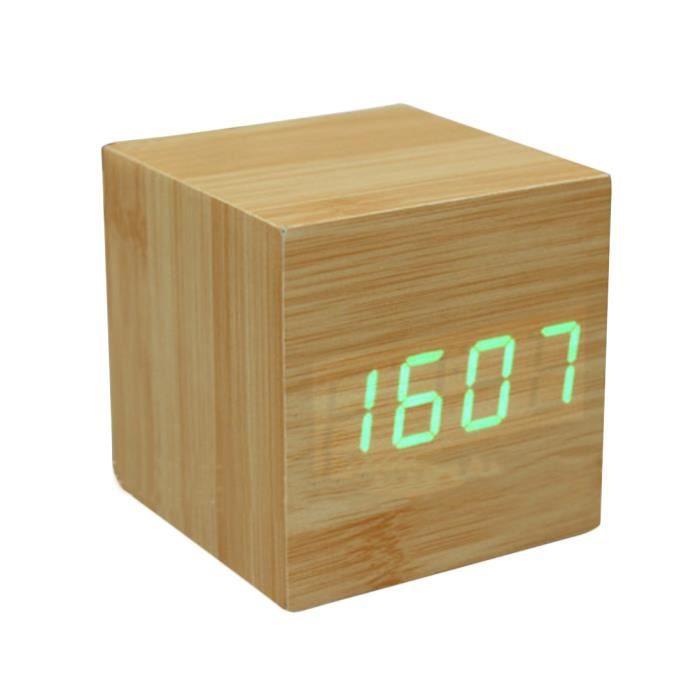 zinkoda r veil en bois led vert radio r veil avis et prix pas cher soldes d t d s le 22. Black Bedroom Furniture Sets. Home Design Ideas