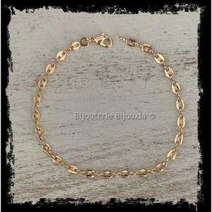 Bracelet  Grains De Cafe Plaque Or Pas Cher