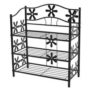 etagere fer achat vente etagere fer pas cher soldes cdiscount. Black Bedroom Furniture Sets. Home Design Ideas