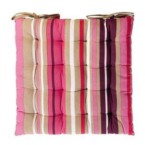 COUSSIN DE CHAISE  HOME STORIES Galette de siège coton imprimée bayad