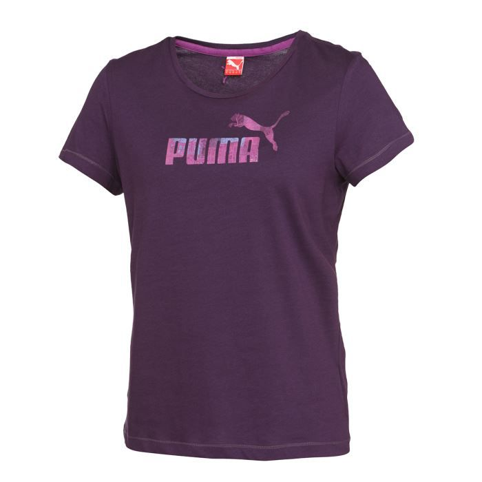 puma t shirt femme violet achat vente t shirt puma t shirt femme cdiscount. Black Bedroom Furniture Sets. Home Design Ideas