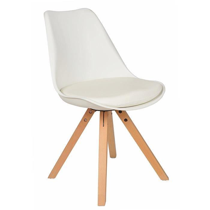 1 x design chaise rembourr e retro ann es 50 bar cuisine salle manger salon blanc bois achat. Black Bedroom Furniture Sets. Home Design Ideas