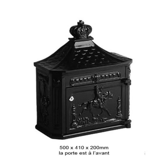 boite aux lettres murale d corative 50cm noir achat vente boite aux lettres cdiscount. Black Bedroom Furniture Sets. Home Design Ideas