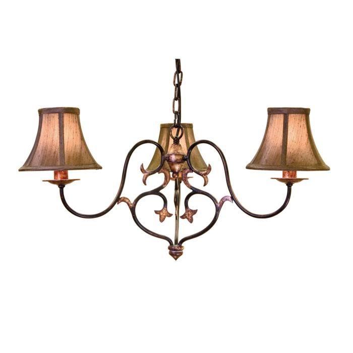 lustre coniston 3 ampoules avec abat jour achat vente lustre coniston 3 ampoules cdiscount. Black Bedroom Furniture Sets. Home Design Ideas