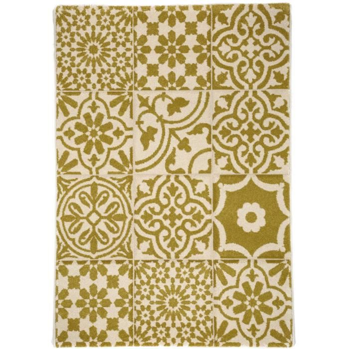 benuta tapis patchwork mosaico jaune 120x170 cm achat vente tapis cdiscount. Black Bedroom Furniture Sets. Home Design Ideas