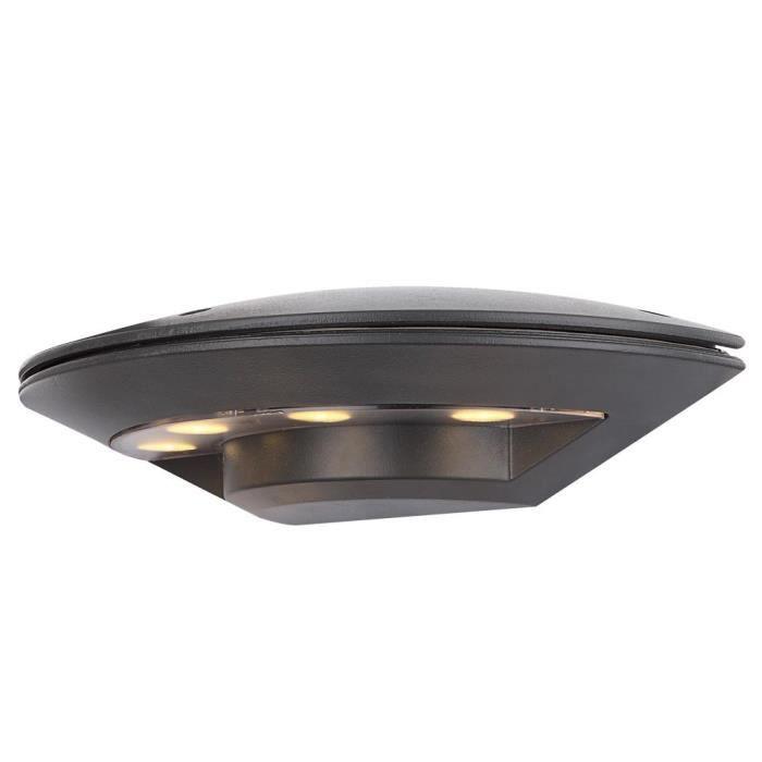 Applique del 4 watts luminaire mural lampe aluminium ip44 for Lampe exterieur pour terrasse