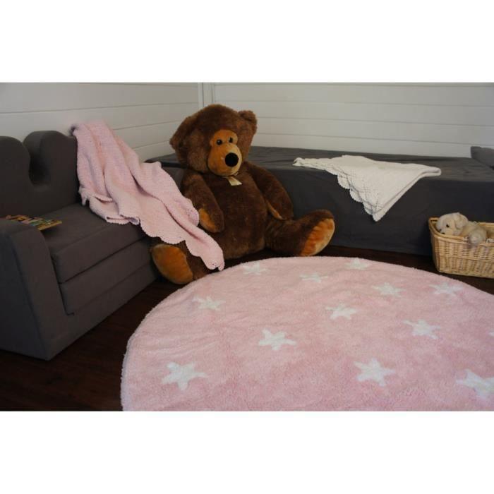 tapis rond pour enfant rose cielo lorena canals 140cm. Black Bedroom Furniture Sets. Home Design Ideas
