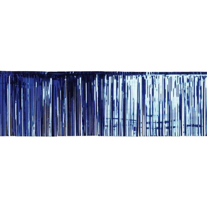 rideau lamelle 50x500 cm bleu achat vente d co de f te. Black Bedroom Furniture Sets. Home Design Ideas