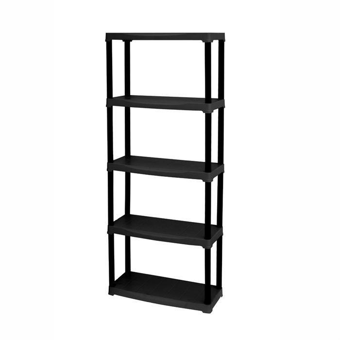tempo etag re noire 5 tablettes achat vente meuble tag re tempo etag re noire 5 tablette. Black Bedroom Furniture Sets. Home Design Ideas