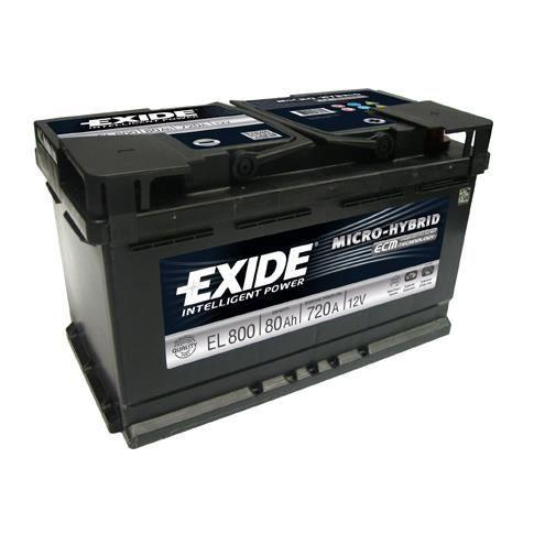 batterie de d marrage exide el800 achat vente batterie v hicule batterie de d marrage exide. Black Bedroom Furniture Sets. Home Design Ideas