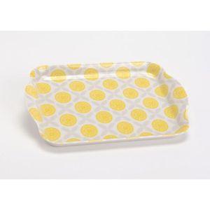 plat de service plateau mug citrus jaune amadeus - Vaisselle Colore Pas Cher