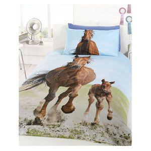 housse de couette cheval achat vente housse de couette cheval pas cher cdiscount. Black Bedroom Furniture Sets. Home Design Ideas